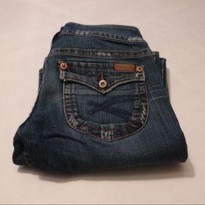 Silver Pioneer Stretch Flap Pocket Jeans, Size 26